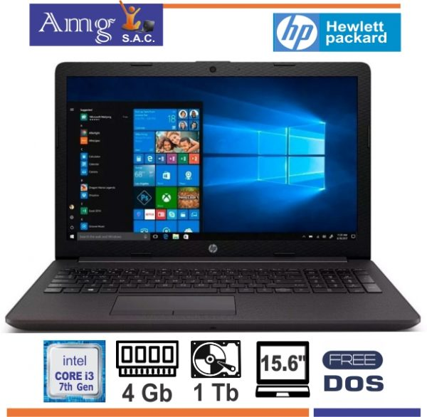 HP 250 G7 I3 7020U 15.6″ LED HD 1366 X 768 4Gb. 1Tb