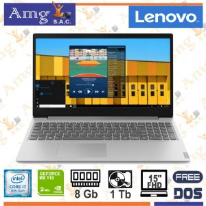 Laptop Lenovo IdeaPad S145-15IWL i7 8565U 1.8Ghz. 8M CACHE 15.6″ LED HD 1366 X 768, 8Gb Memoria ddr4, 1Tb Disco Rigido, Video Dedicado 2Gb. Gddr5 MX110 Nvidia GeForce