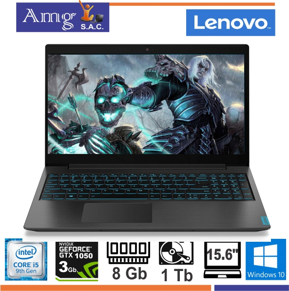 "Laptop Lenovo Gaming L340-15RH, intel i5 9300H, 2.4Ghz. TB. 4.1Ghz. 8M. cache, 4 Nuc, 8Gb Memoria ddr4, 1Tb Disco Rigido, Video Dedicado 3Gb. GTX 1050 GeForce Nvidia 15"" FHD 1980 X 1020."