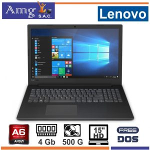 Laptop LENOVO V145-15AST AMD A6 9225 2.6Ghz. 15.6″ LED HD 1366 X 768, 4Gb MEMORIA DDR4, 500 Gb Disco Rigido