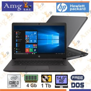 LAPTOP HP 240 G7 1005G1 Hasta 3.4Ghz, Memoria 4Gb Ddr4, Disco 1Tb, Pantalla 14″ HD LED 1366 X 768