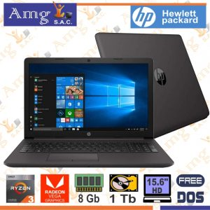 Laptop HP 255 G7 Reyzen 3 3200U 2.60Ghz. Hasta 3.5Ghz. 5M. Cache, Pantalla 15.6″ LED HD 1366 X 768, Memoria 8Gb. ddr4, Disco 1Tb, Video Grafico AMD Radeon Vega 3