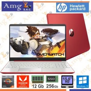 Laptop HP 15-GW0012LA  3500U 2.10Ghz. Hasta 3.7Ghz. 4M. CACHE 4 Nucleos, Pantalla 15.6″ LED HD 1366 X 768, 12Gb Memoria ddr4, 1Tb Disco Rigido, Video Grafico AMD Radeon Vega