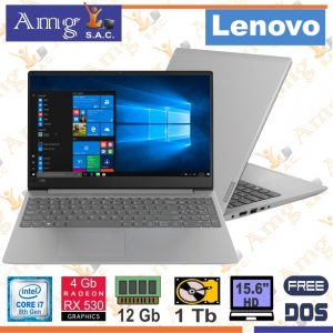 Laptop Lenovo 330S-15IKB i7 8550U 1.8Gh/4.0Ghz. TB. 8M.cache, 12Gb Memoria, 1Tb Disco Rigido, Video Radeon 540 4Gb. Gddr5,15.6″ LED HD 1980  X 1020