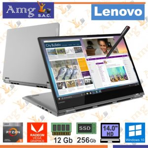 LAPTOP LENOVO idea Pad Flex-14API Reyzen 5 3500U 2.1Ghz. 4M. Video Radeon Vega 8, Pantalla 14″ FHD 1920 X 1080, MEMORIA DDR4 12Gb, Disco Mecanico 512Gb. SSD.