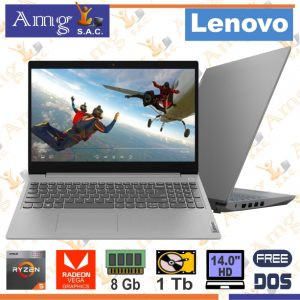 "Laptop Lenovo V15-ADA AMD Ryzen 3 3250U, 2.6Ghz, Memoria 8Gb Ddr4, Disco 1Tb, Pan.15.6"" HD 1366 X 768 led,"