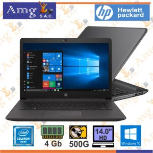 LAPTOP HP 240 G7 Procesador intel CELERON N4020 1.10Ghz, Memoria ddr4 4Gb, Disco Duro 500 Gb 5,400 rpm, Pantalla 14″ 1920 x 768 HD